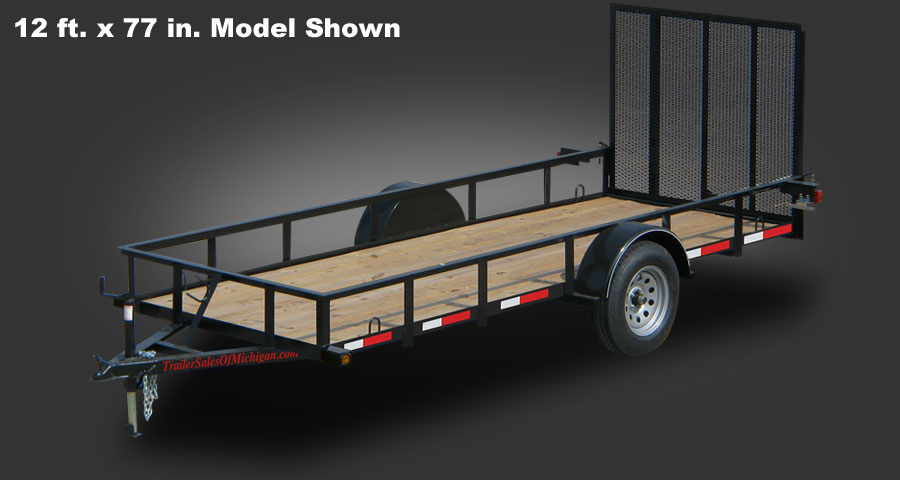 2990 GVWR 12 ft x 77 inch Utility Trailer