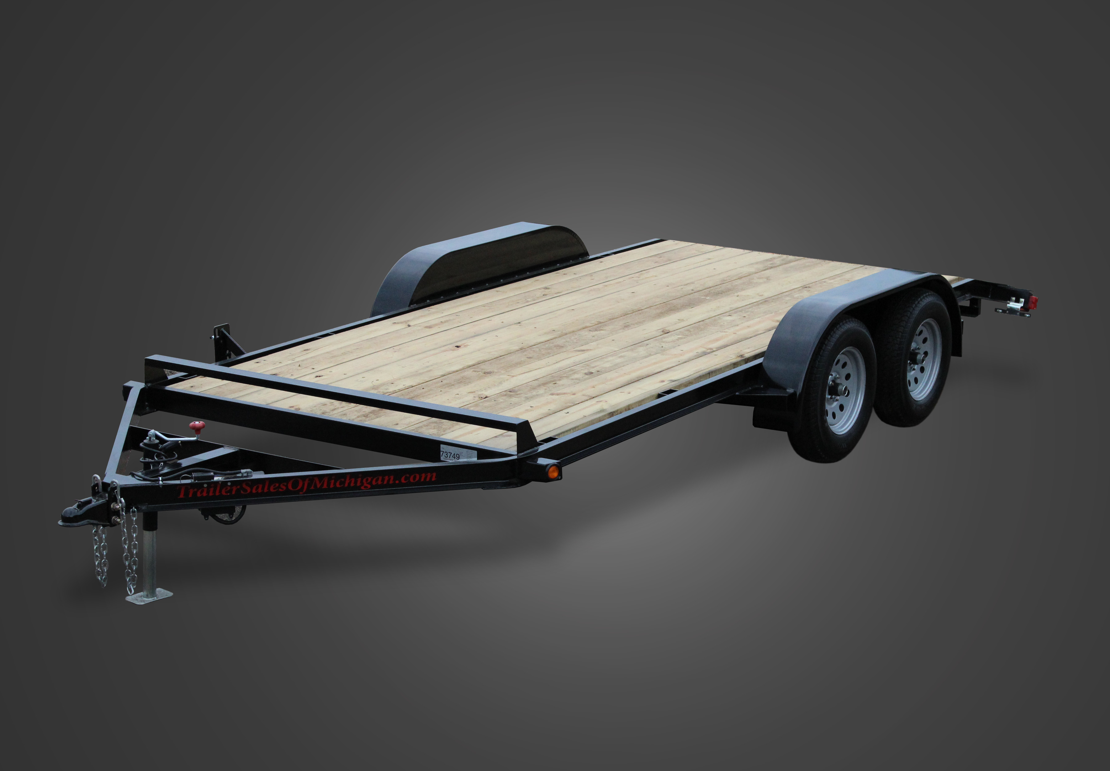 Wood Floor Car Trailers by Trailer Sales of Michigan
