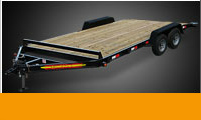 Utility Trailers Wood Floor Flatbed