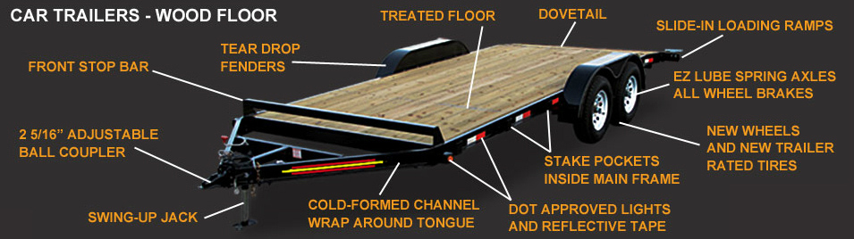 Wood Floor Car Trailers