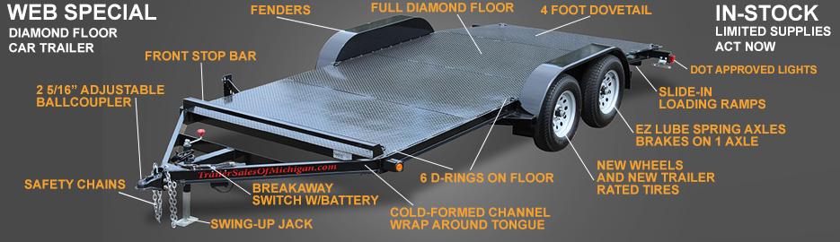 Diamond Floor Car Trailer