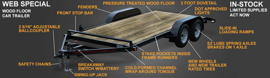 Wood Floor Car Trailer
