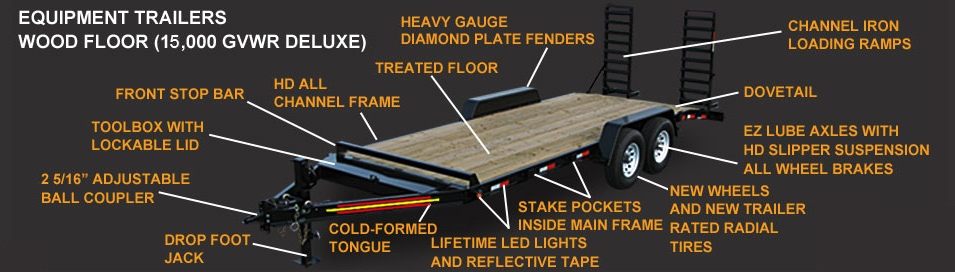 Wood Floor Equipment Trailers